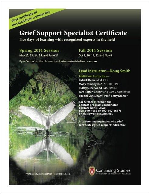 2014 UW/Madison Grief Certificate